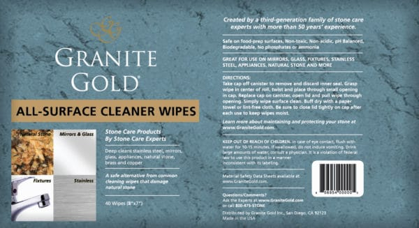 Granite Gold All-Surface Wipes